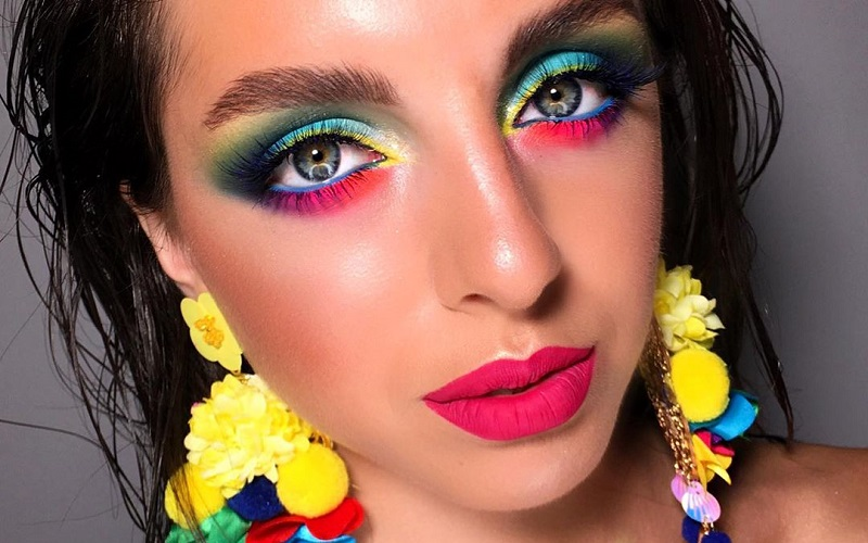 Easiest ways to add neon color to your makeup look this monsoon